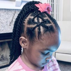 Image may contain: one or more people Lil Girl Hairstyles, Girls Natural Hairstyles, Natural Hairstyles For Kids, Kids Braided Hairstyles, Kids Hairstyles Boys, Wedding Hairstyles, Little Girl Braids, Braids For Kids, Natural Hair Braids