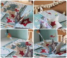 """Pop-up album """"Baby"""" Die Cut Cards, Pop Up Cards, Mini Albums, Tarjetas Pop Up, Up Book, Baby Album, Baby Cards, Projects To Try, Paper Crafts"""