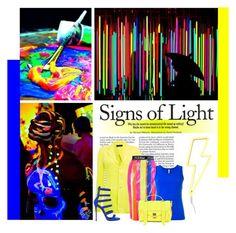 """~like neon lights"" by hereisalessia ❤ liked on Polyvore featuring Banda, Polo Ralph Lauren, Topshop, No Ka'Oi, Proenza Schouler and Giuseppe Zanotti"