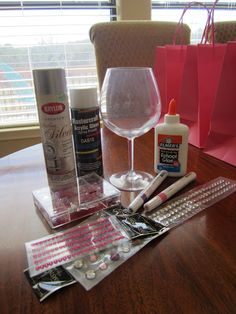 Bachelorette Party Crafts ---I think we would make these together at my party, just another activity to do cause I'm not crazy about getting wasted lmao.