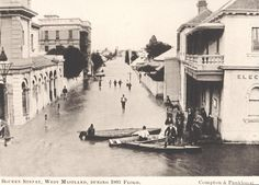 View of Bourke Street during the 1893 flood, Maitland, NSW, Australia by Cultural Collections, University of Newcastle Maitland Nsw, Aboriginal Culture, Sydney City, Newcastle Nsw, Historical Architecture, Historical Pictures, Sydney Australia, Aerial View, Old Photos