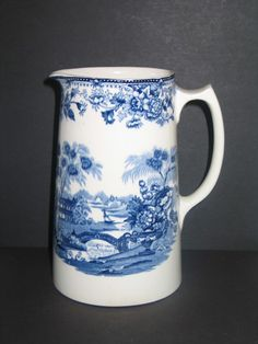 """Royal Staffordshire """"Tonquin"""" by Clarice Cliff Large Milk Pitcher England. Starting at $8"""