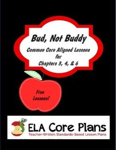 This packet contains Common Core aligned activities for chapters three, four, and six of the novel Bud, Not Buddy.  Using these handouts, students will take a look at flashback, imagery, figurative language, and irony.  Use these lesson as a part of your whole-group novel study, as an independent study, or in literature circles.