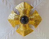 Vintage Maltese Cross Pendant Brooch