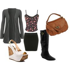 Mini Skirt Outfit 2 by alison-brown on Polyvore