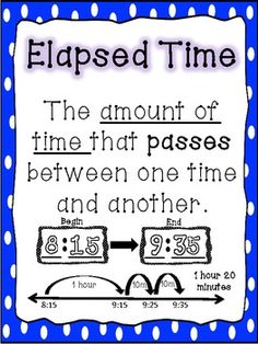 1000+ ideas about Elapsed Time on Pinterest | Math, Multiplication and ...