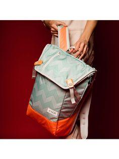 Flicker Mint Coral   Rucksack   Daypack