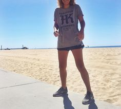 @alyssanicholee on a morning jog w/ our SOLD OUT HKP x MMLA Mystery Tee!