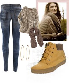 """""""Timberland Lounger Boot Look"""" by finishline on Polyvore"""