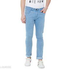 Jeans Men's Denim Light Blue Skinny Jeans Fabric: Denim Sizes:  34 (Waist Size: 34 in Length Size: 33 in)  36 (Waist Size: 36 in Length Size: 33 in)  38 (Waist Size: 38 in Length Size: 33 in)  40 (Waist Size: 40 in Length Size: 33 in)  30 (Waist Size: 30 in Length Size: 33 in)  42 (Waist Size: 42 in Length Size: 33 in)  32 (Waist Size: 32 in Length Size: 33 in)  Country of Origin: India Sizes Available: 30, 32, 34, 36, 38, 40, 42   Catalog Rating: ★3.9 (478)  Catalog Name: Stylish Fashionista Men Jeans CatalogID_1633620 C69-SC1211 Code: 984-9340580-