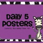 This bright and fun set of Daily 5 posters includes:    -Read to Self  -Read to Someone  -Word Work  -Listen to Reading  -Work on Writing  -Teacher Time (...