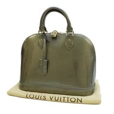 Louis Vuitton Alma PM Monogram Vernis Handle bags Gray Patent Leather M91613