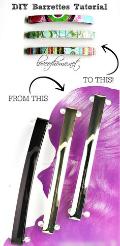 DIY Barrettes Tutorial. DIY hair accessories.