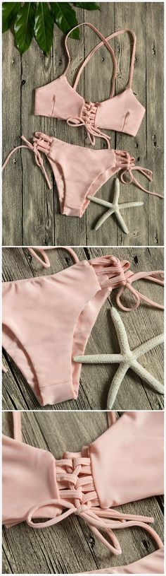 Women Multi-tie Lace-up Two Piece Swimsuit Bikini