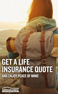 Dreams come in all shapes and sizes. That's why when it comes to life insurance, American Family Insurance believes in policies that are unique to you and your lifestyle. Provide a few details about yourself and get a quick and easy quote today with an American Family Insurance agent.  https://www.amfam.com/insurance/life/coverages?sourceid=pi0088