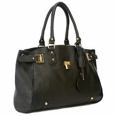 MG Collection LUCCA Glamour Padlock Shopper Hobo Handbag w/Shoulder Strap