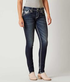 Size 28S Rock Revival Emilia Easy Skinny Stretch Jean - Women's Jeans in Emilia ES200 | Buckle
