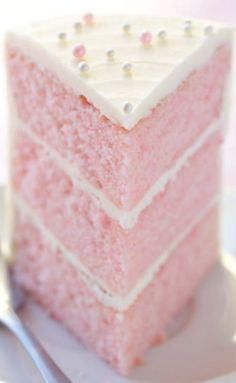 Pink Almond Party Cake Recipe The Cake Merchant***note to self.I will not use almond extract*** Just Desserts, Delicious Desserts, Dessert Recipes, Yummy Food, Pink Desserts, Frosting Recipes, Dessert Ideas, Cake Ideas, Food Cakes