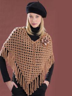 Cool Poncho   Yarn   Free Knitting Patterns   Crochet Patterns   Yarnspirations