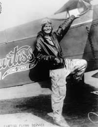 The day after Fay Gillis Wells soloed, she was forced to parachute from the experimental aircraft she piloted during a test flight.  After earning her pilots license in 1929, Curtis Wright hired her to demonstrate and sell his airplanes.