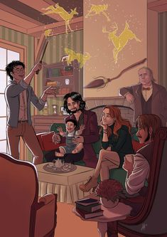 Potter's family and the Marauders by Lefantoan