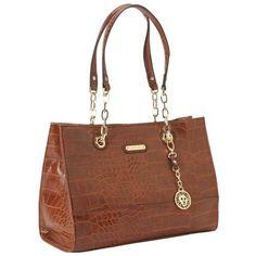 c07abc9da09e7 Anne Klein Coast Is Clear Small Shoulder Bag - Saddle Croc - BonTon -  Original Price 85 - Sale Price