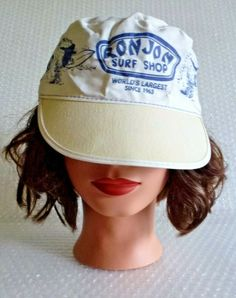 rON JON SURF SHOP PAINTERS CAP COCOA BEACH FLORIDA SURFER SKATE VINTAGE  neocurio  7cca5385384c