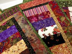 Quilted Placemats Autumn Harvest  Set of 4 by vschwam on Etsy, $45.00
