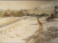 How to paint a simple snow scene in watercolour