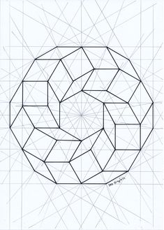 The Moebius Loop, geometric construction, start of to rendering. Mind that your vision will play tricks on you, bouncing from 2 to 3 dimensions, so you may need to look away periodically. Possible Inlay project? Geometric Shapes Art, Geometric Drawing, Mandala Drawing, Mandala Art, Geometric Tattoo Stencil, Simple Geometric Designs, Drawing Drawing, Flower Mandala, Geometry Pattern