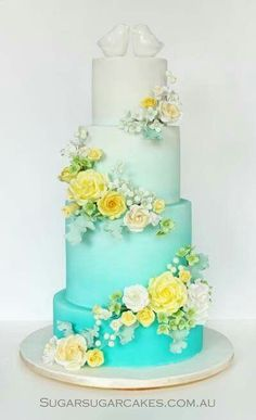 1000+ ideas about Teal Cake on Pinterest | Adult Birthday Cakes ...