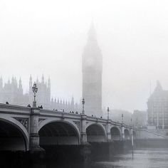 """A very talented photographer named Radu Negru, also known as """"The Radu"""" managed to capture the unspeakable and mystical beauty of London under the thick Ethereal Beauty, Types Of Photography, Westminster Abbey, Fun Shots, London England, Mists, Images, Instagram Posts, London"""