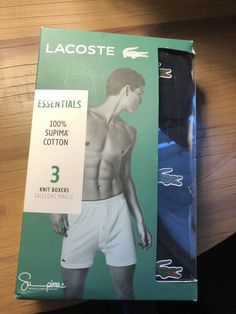 618fd969b659 Lacoste Mens 3 Pack Of Trunks Boxers In Black Sizes Small - Extra Large