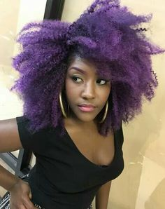 Born This Way, Afro, Natural Hair Styles, Curly, Hair Color, Colored Hair, Hair Ideas, Nature, Pink