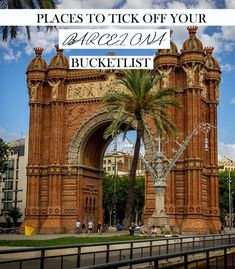 Places to visit in Barcelona, Spain.