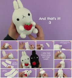 How to Make Molang Sock Plushie Itsssss sooooo cccuuuutttteees
