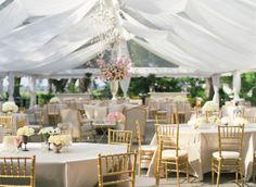 Lovely Wedding Tent Set-up