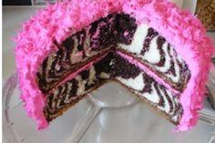 zebra cake! Sharpay Evans favorite!!!!! (con bizcochuelo de vainilla y de chocolate)