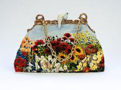 Sunny Garden Colorful Porcelain Sculpture Bag by GaiasBEADSandBAGS