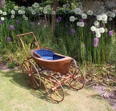 UNIQUE 1870s Children's Carriage Boat-shaped Victorian Baby Pram vintage antique | eBay