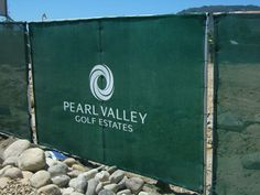 Printed shade cloth - Pictures - Pearl Valley Construction Branding, Golf Estate, Pearl, Shades, Printed, Pictures, Photos, Bead, Prints