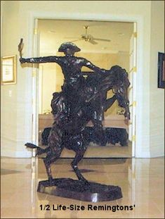 Frederic Remington Statue of Bronco Buster Life Size Bronze Sculpture, Sculpture Art, Famous Sculptures, Frederic Remington, Luxury Modern Homes, Statues For Sale, Large Art, Dream Homes, Birthday Gifts