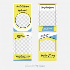 Beautiful instagram story template collection Free Vector Web Instagram, Instagram Design, Social Media Template, Social Media Design, Facebook Dp, Bakery Logo Design, Ads Creative, Instagram Story Template, Banner Design