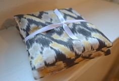 Lavender Sachets IKAT Pattern White Grey and by kookyhandbags Lavender Buds, French Lavender, Lavender Sachets, Woolen Socks, Ikat Pattern, Lingerie Drawer, Bed Pillows, Cotton Fabric, Yellow