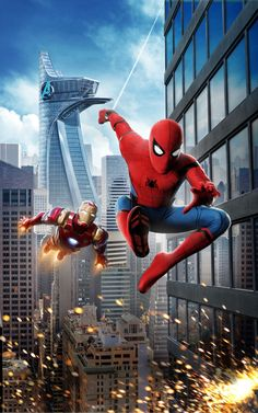 Iron Man Takes Spider-Man's Suit Scene from Spider-Man Homecoming action movie. By the way, the Marvel film stars Tom Holland, Michael Keaton, and Robert Downey Jr. Spiderman Pictures, Spiderman Movie, Amazing Spiderman, Spiderman Anime, Iron Man Spiderman, Spiderman Marvel, Spaider Man, Iron Man Wallpaper, Avengers Wallpaper