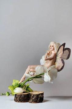 Polymer Clay Fairy, Kobold, Clay Fairies, Fairy Figurines, Fairy Art, Fairy Dolls, Magical Creatures, Ooak Dolls, Artist Art
