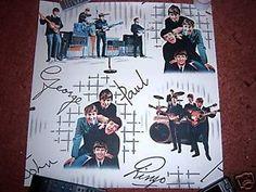 beatles original wallpaper | Details about THE BEATLES WALLPAPER Original 1960's MINT Collectable