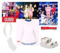 Red Velvet - Dumb Dumb by marissa-malik on Polyvore featuring polyvore fashion style Hanes Windsor Smith women's clothing women's fashion women female woman misses juniors