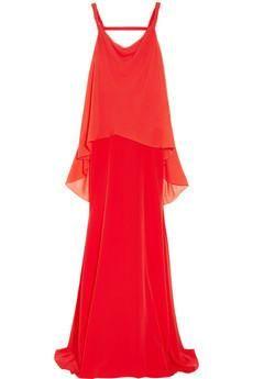 Vionnet Layered silk and silk-chiffon...