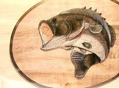 Google anchors and art designs on pinterest for Fish string art